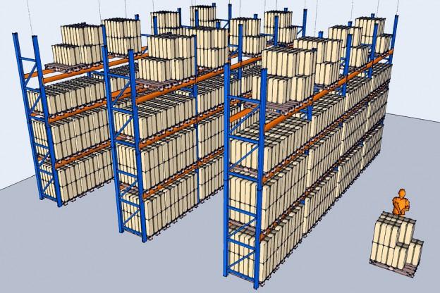 Схема склада 3D